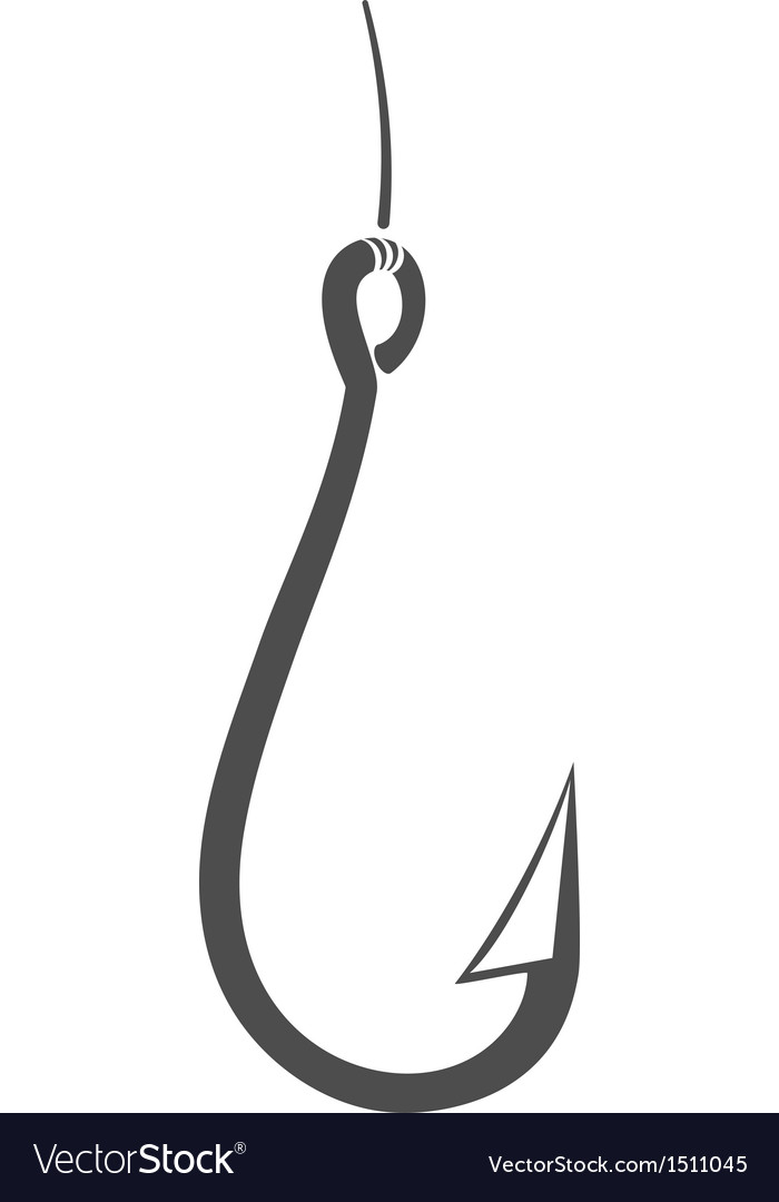 Fishing Hook Royalty Free Vector Image - VectorStock
