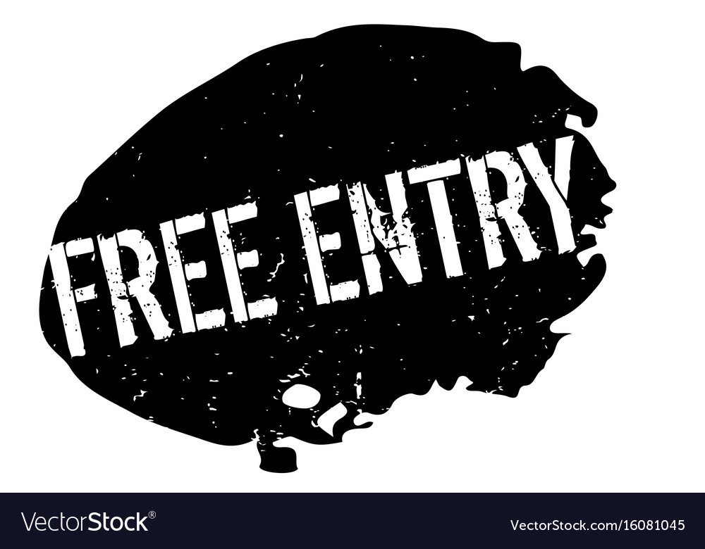 Free entry rubber stamp vector image