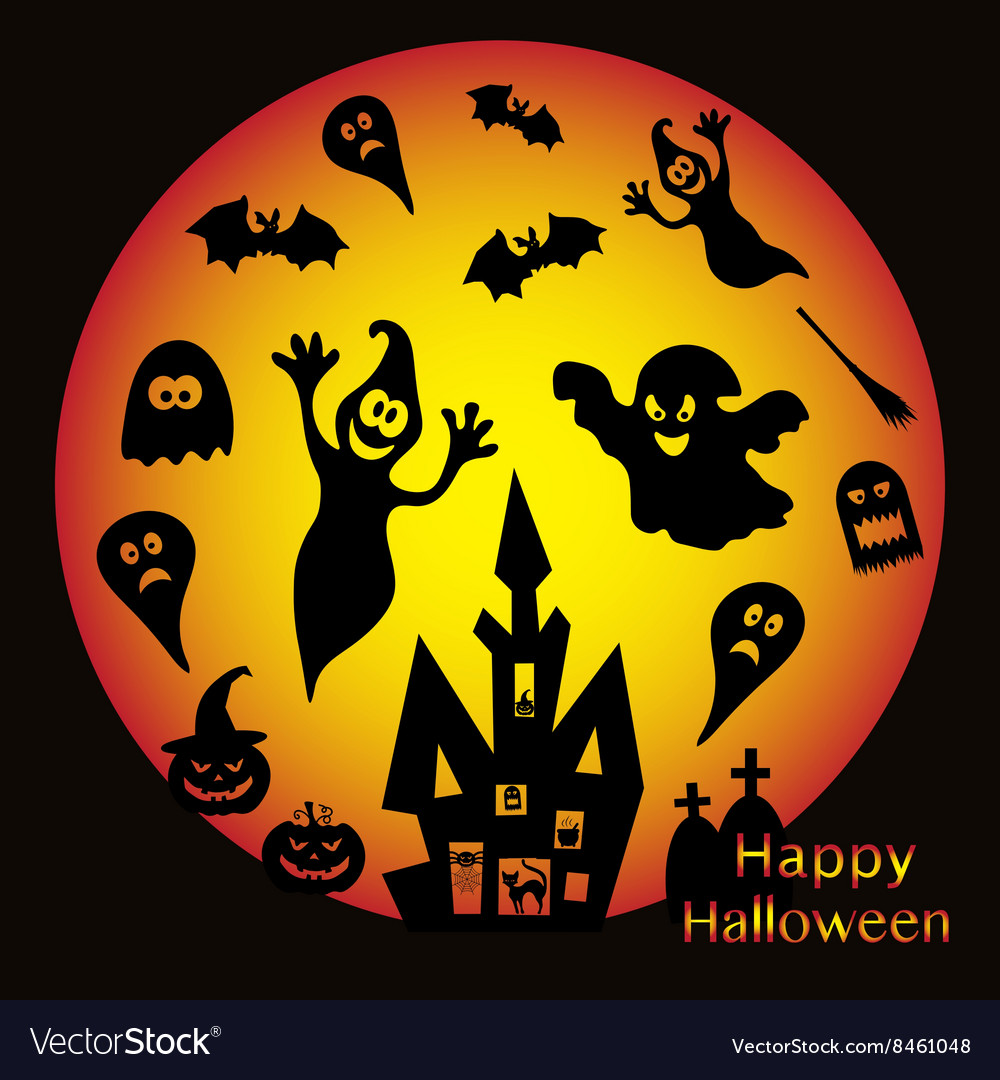Holiday on theme of Halloween vector image