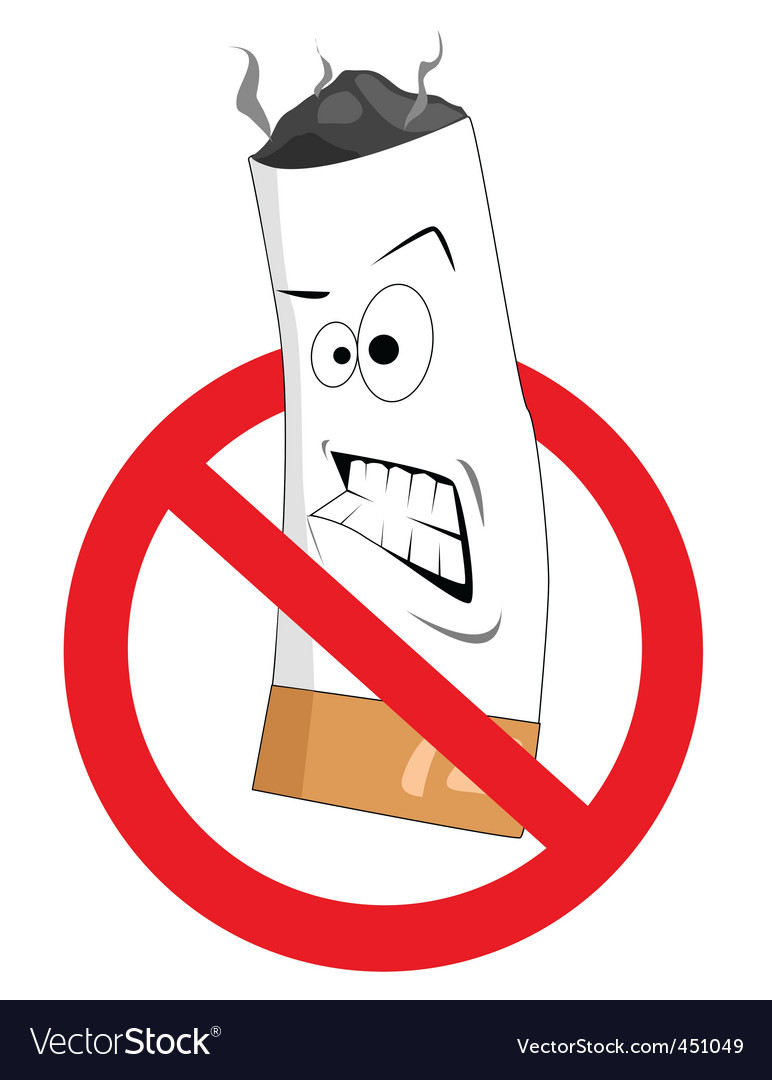 2008186 cartoon no smoking sign vector image