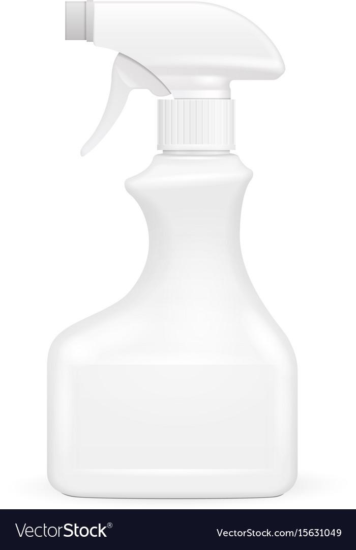 White blank spray pistol cleaner plastic bottle vector image