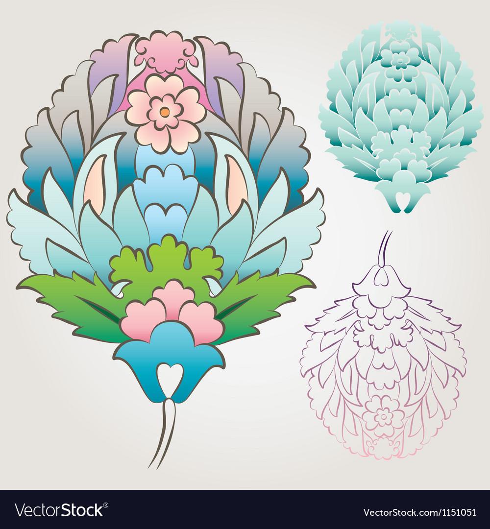 Ottoman Floral Motif vector image