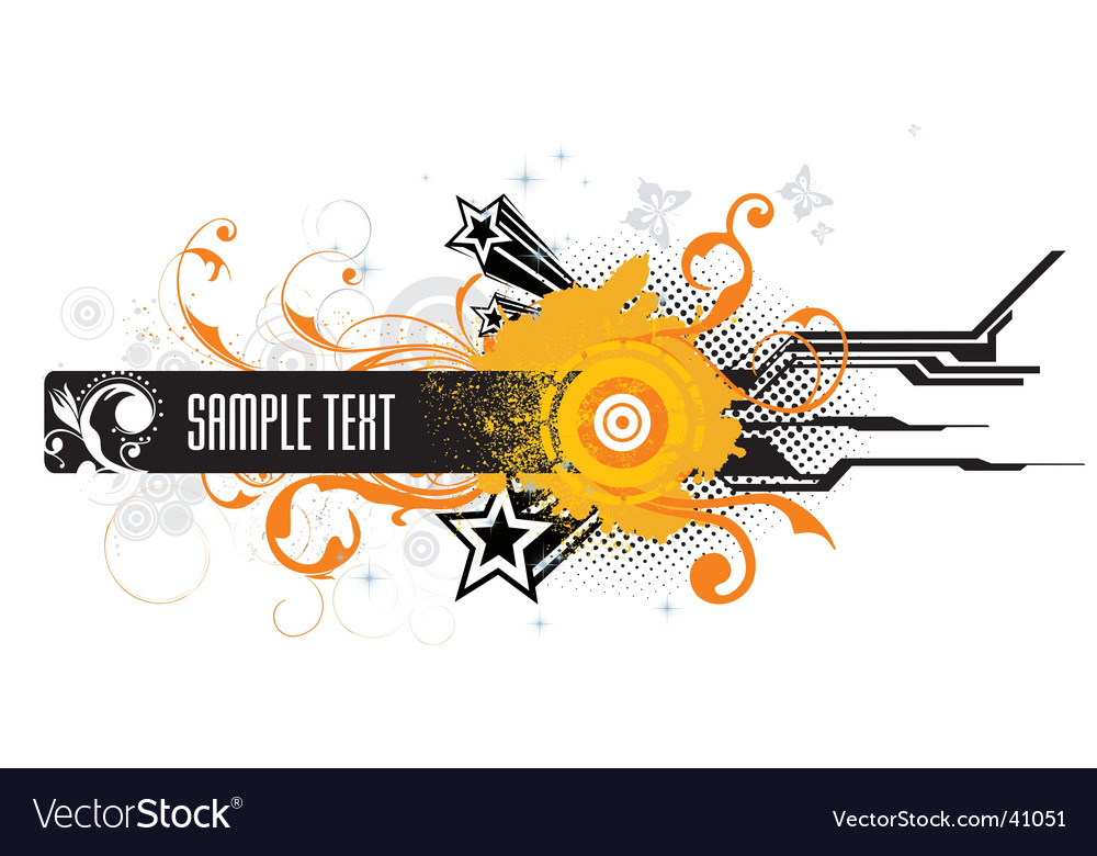 Grunge abstract illustration vector image