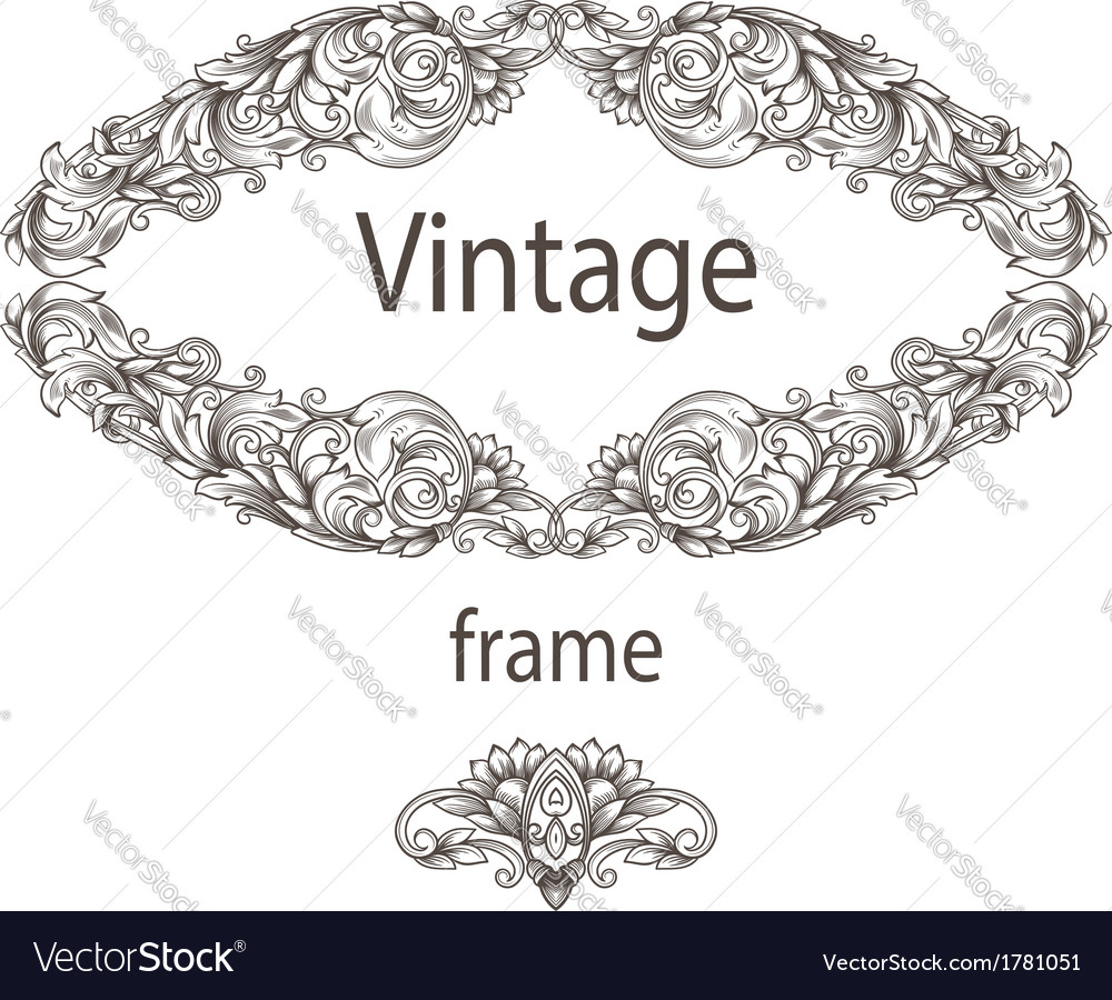 Vintage card with patterns vector image