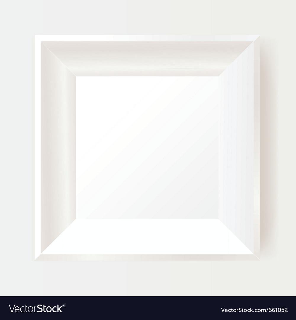 White photo frame vector image