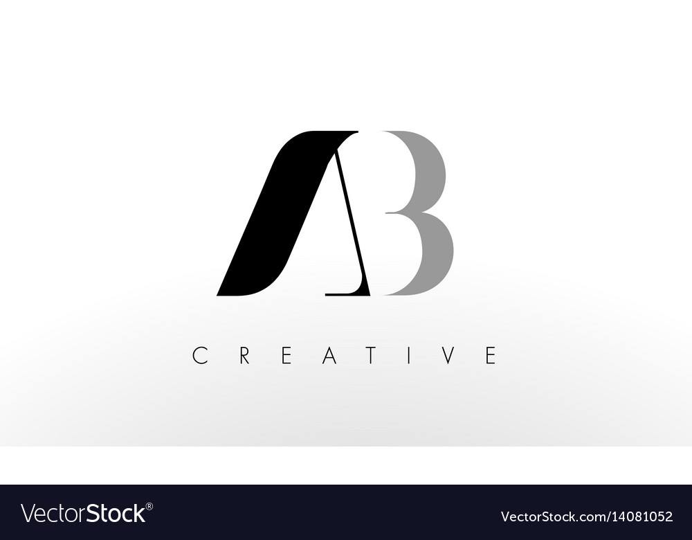 A b letter logo design creative ab letters icon vector image