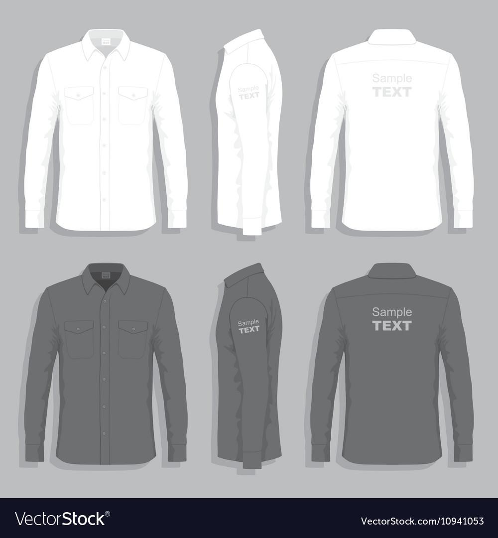 Dress shirts vector image