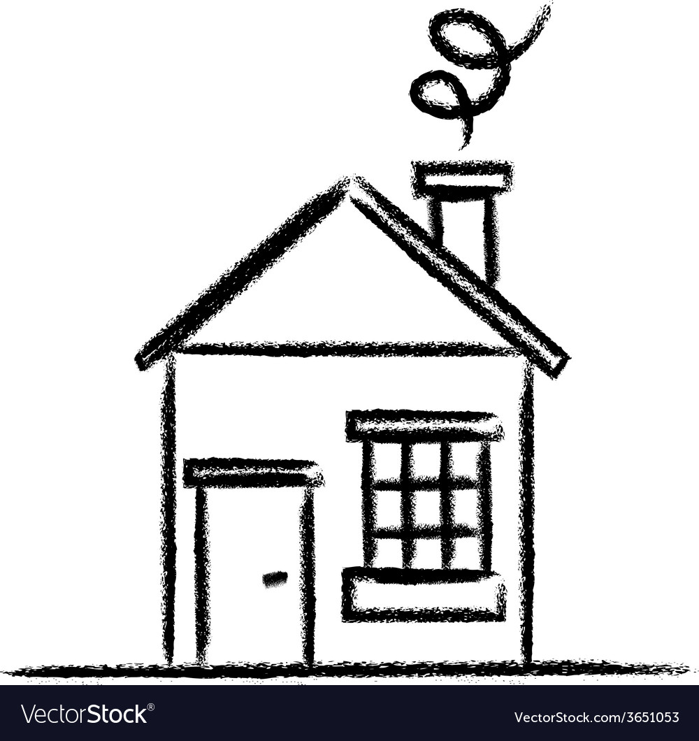 House outline picture - House Sketch Outline Vector Image