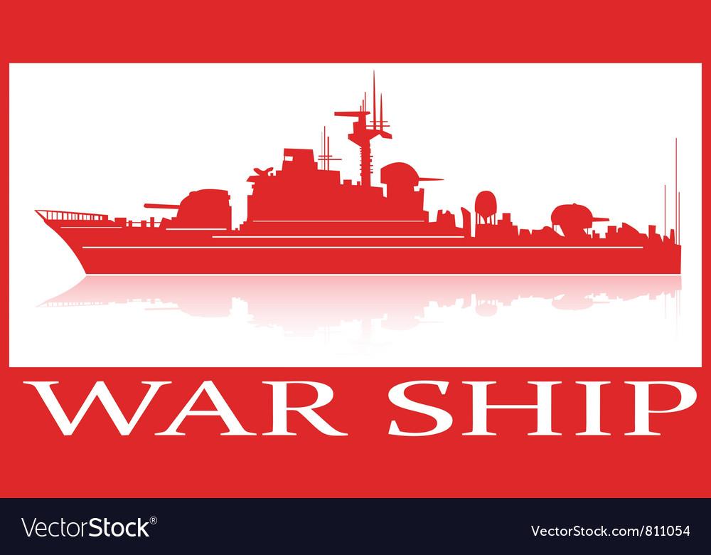 Warship vector image