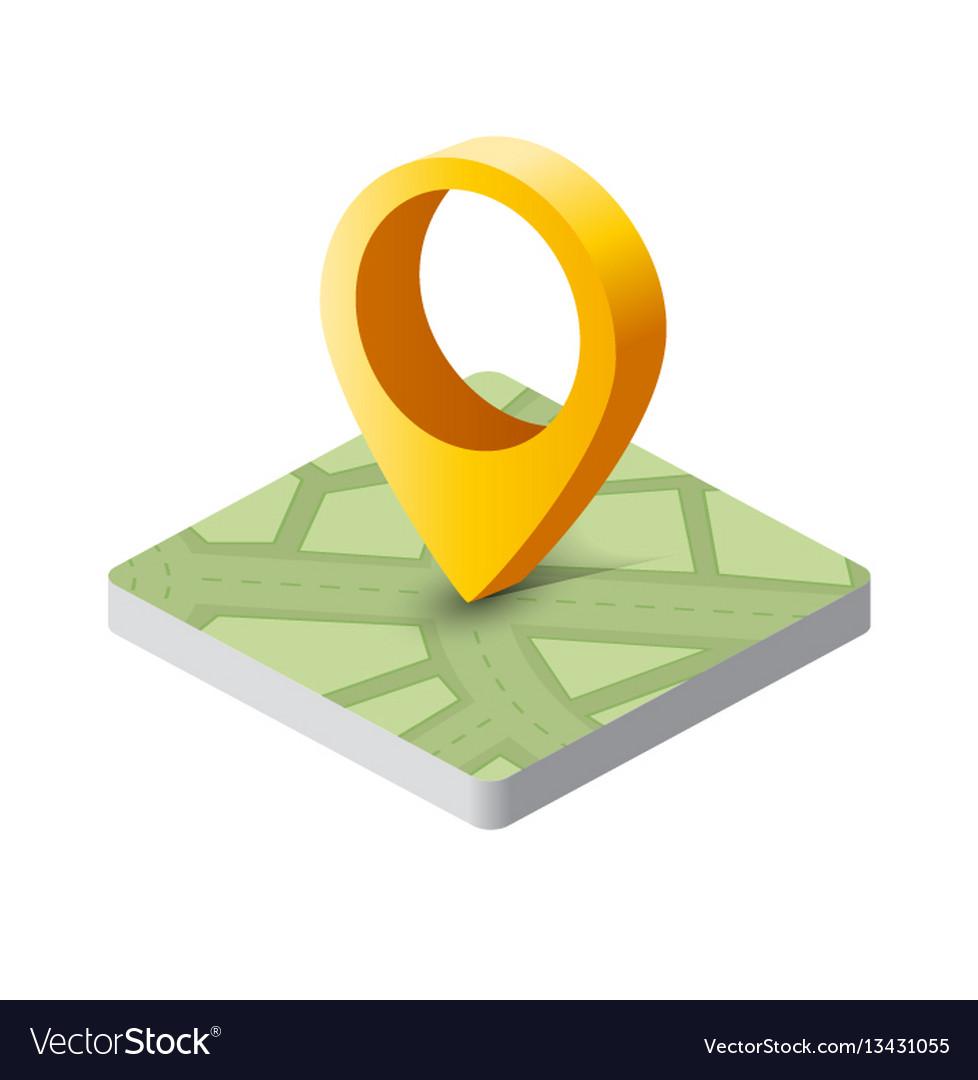 Isometric pin icon vector image