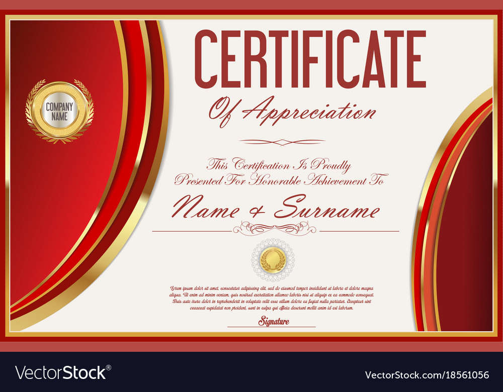 Certificate template retro design 12 royalty free vector certificate template retro design 12 vector image yadclub Images