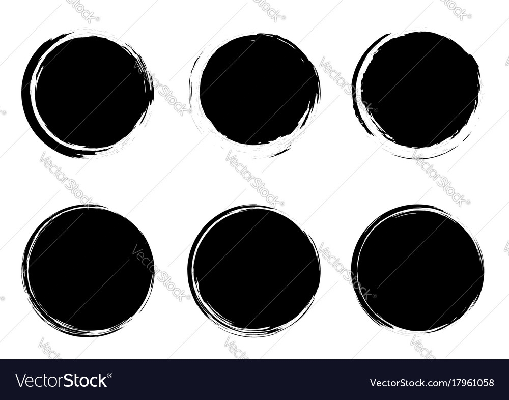 Modern grunge stamps badges circle form templates vector image