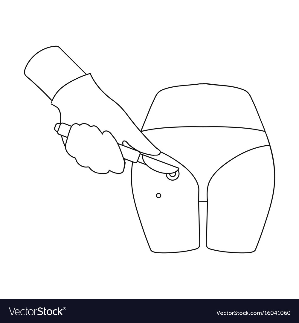 Dissection of a boil on the buttock of a man vector image
