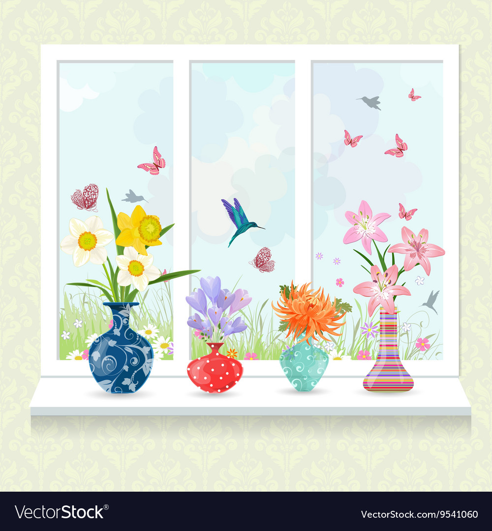 Romantic collection of modern glass vases with vector image romantic collection of modern glass vases with vector image reviewsmspy