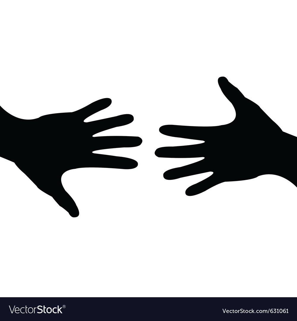 Deal done - helping hand vector image