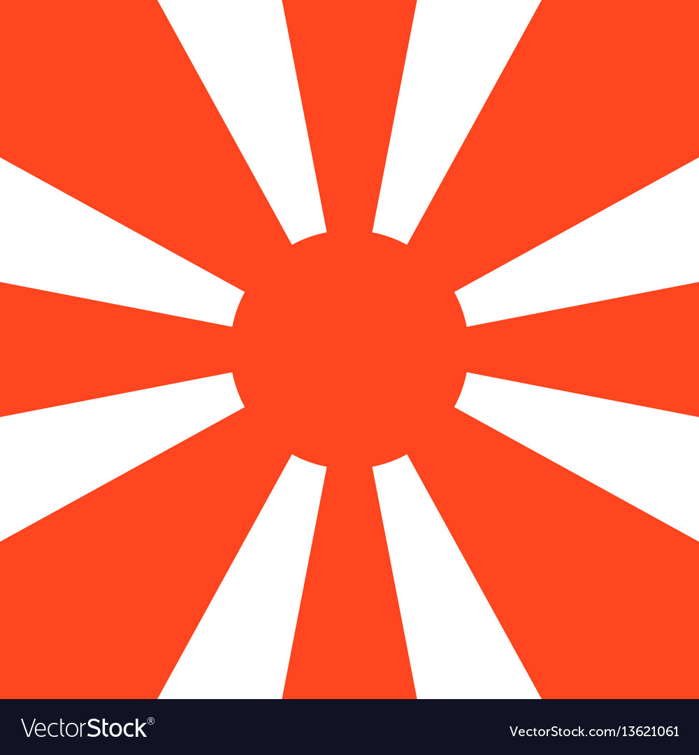 Retro sun burst pattern shapes vector image