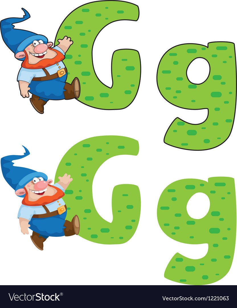 Letter G gnome vector image
