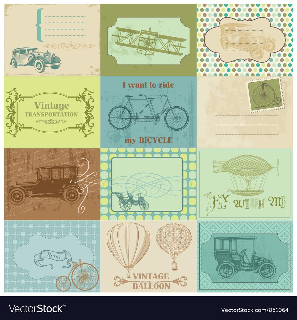 Design Elements - Vintage Transportation vector image