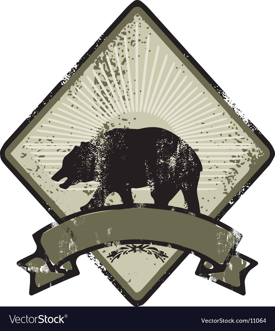 Bear army emblem vector image
