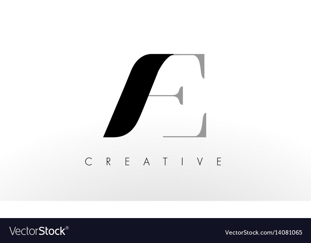 A e letter logo design creative ac letters icon vector image