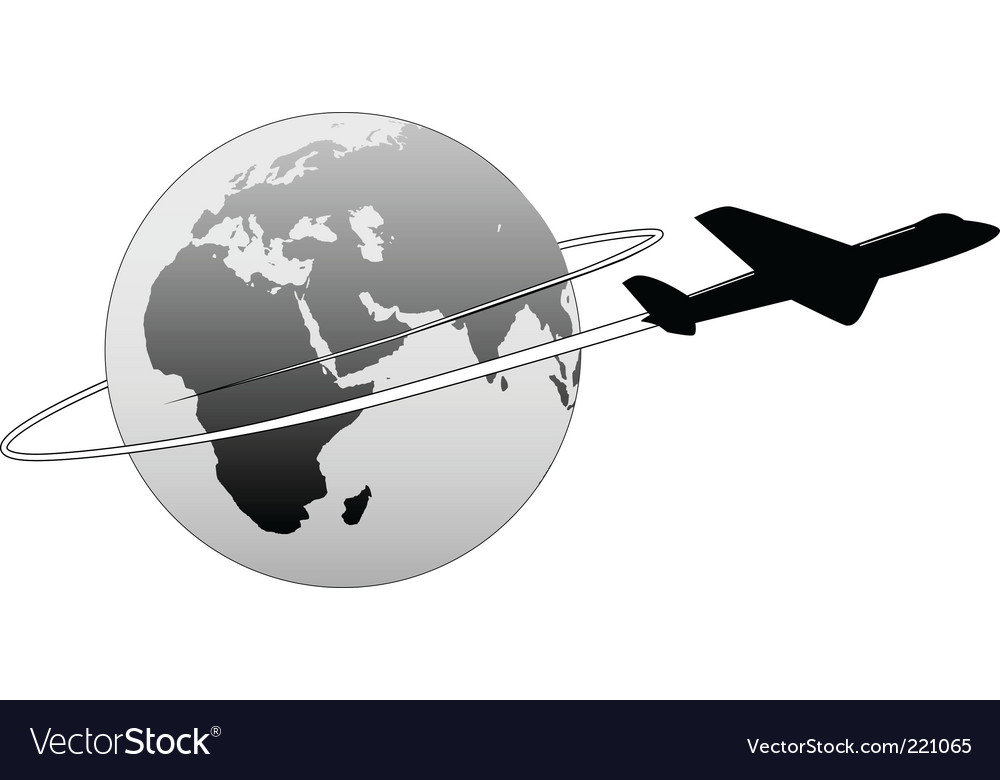 Airline travel vector image