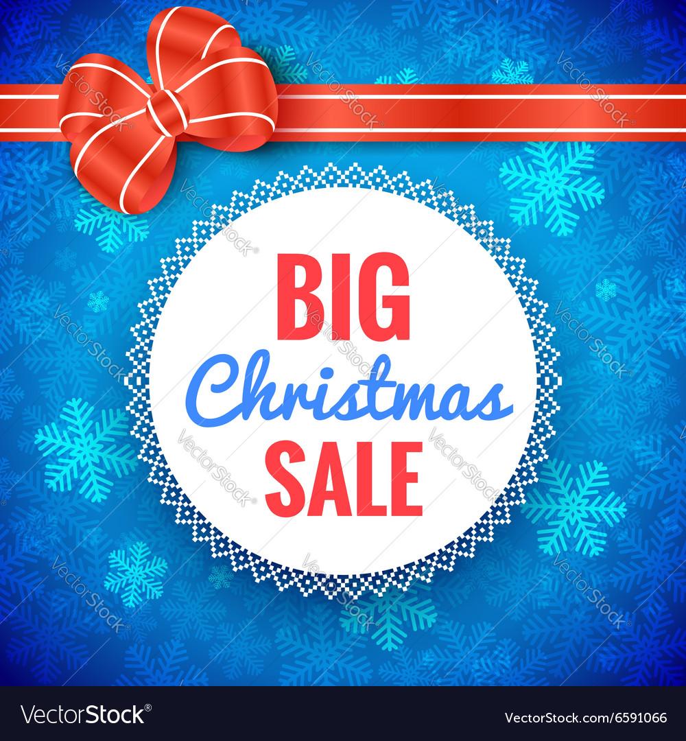 Big Christmas Sale Frame vector image