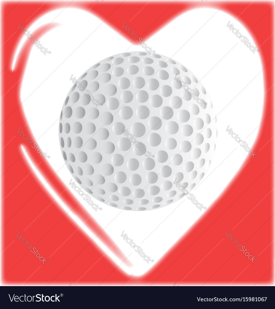 Love golf vector image