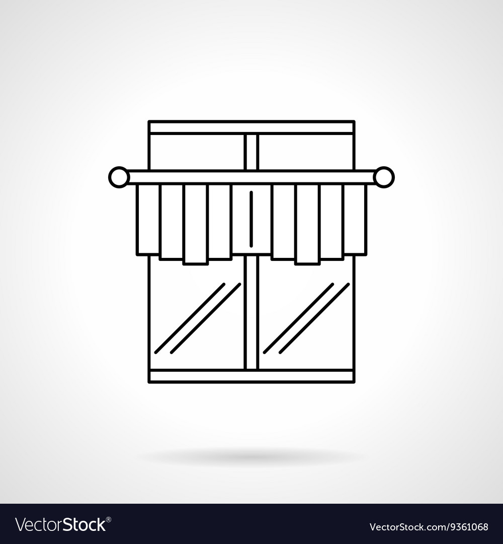Curtains for cafe flat line icon vector image