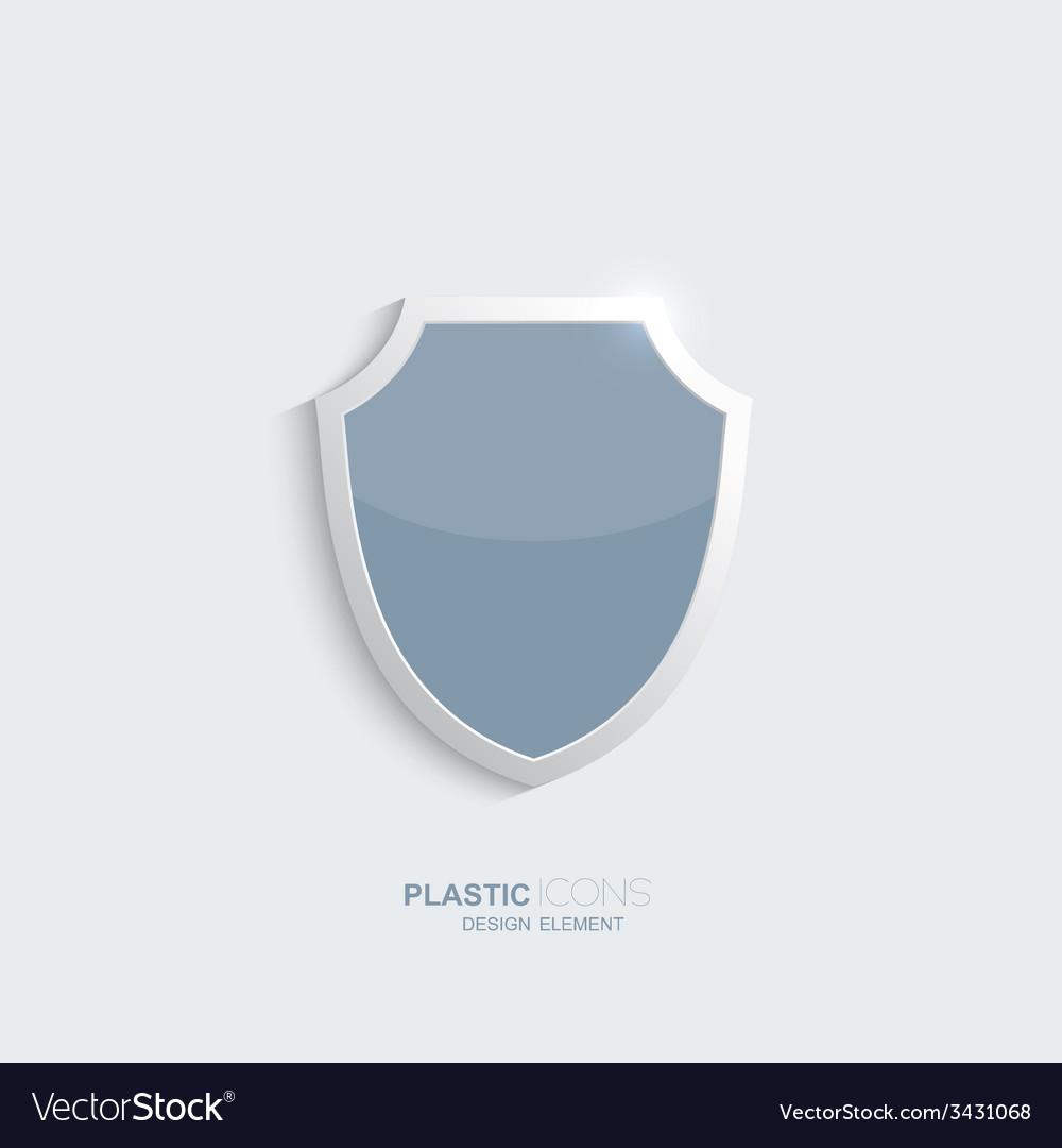Plastic shield icon vector image