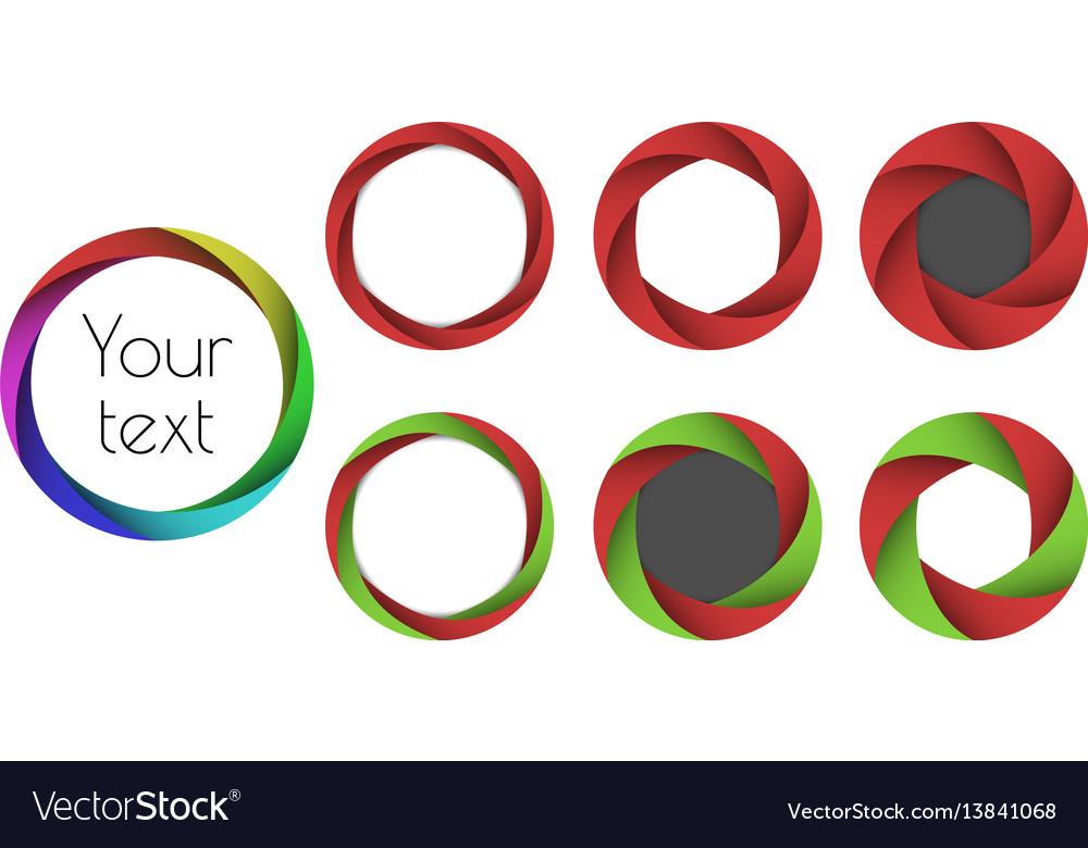 Set 3d frames vector image