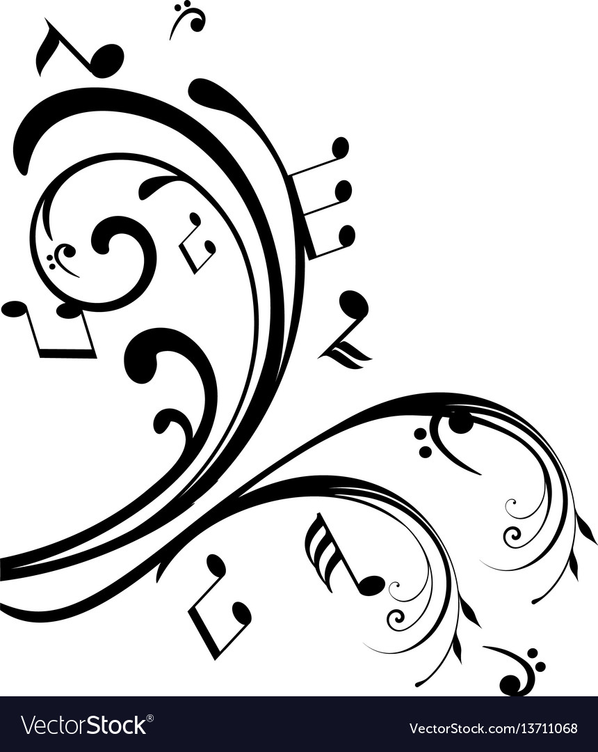 Swirls notes vector image
