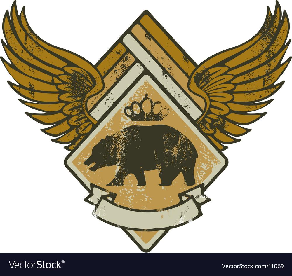 Bear kink army vector image