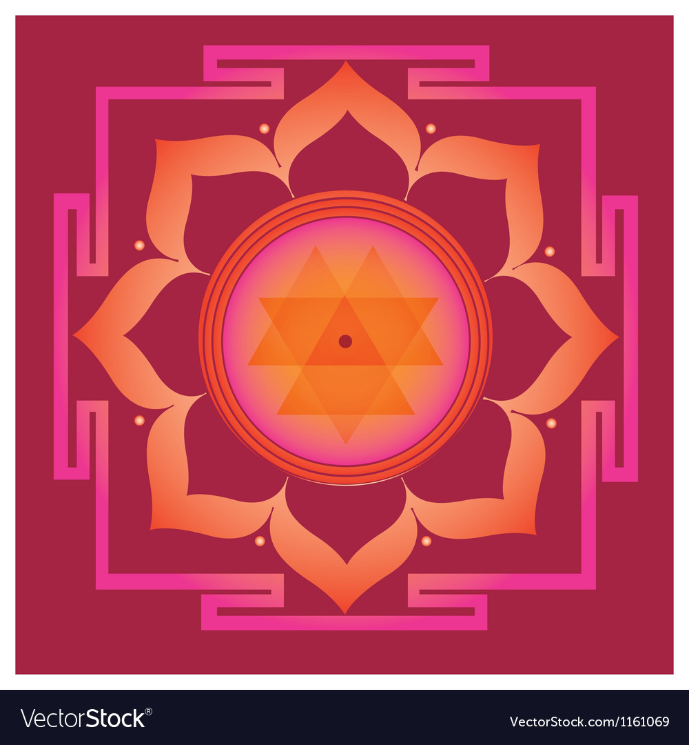 Spring yantra for health and wellbeing Vector Image