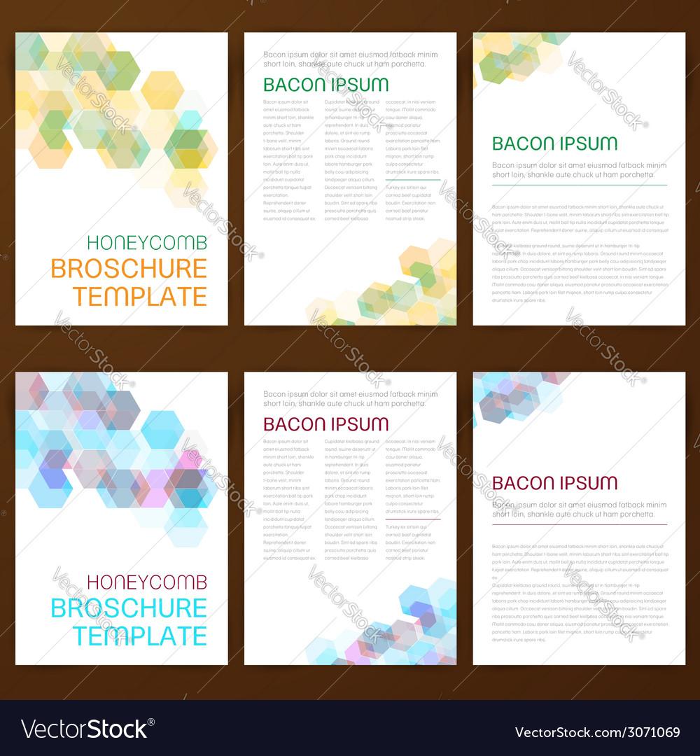 Abstract modern flyer brochure vector image