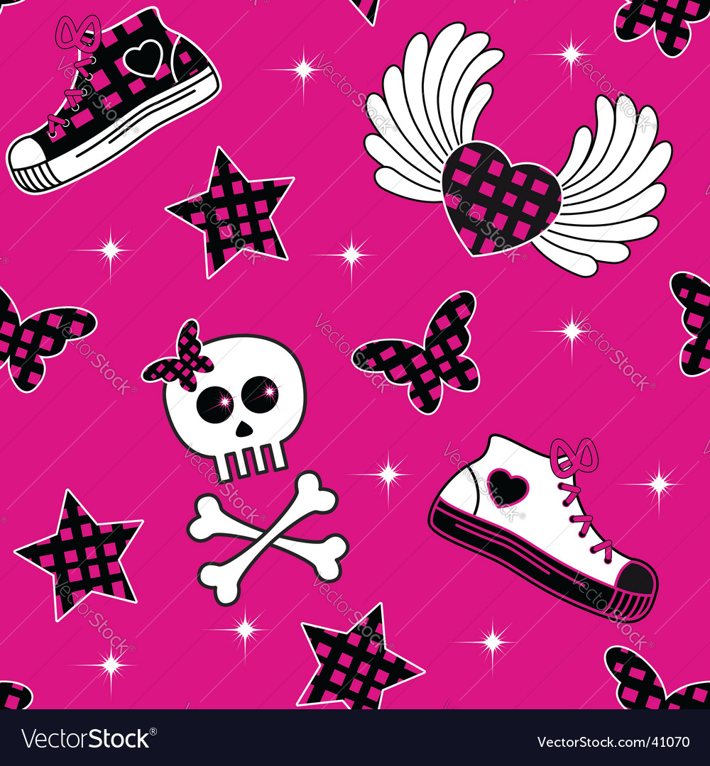Emo symbols wallpaper vector image