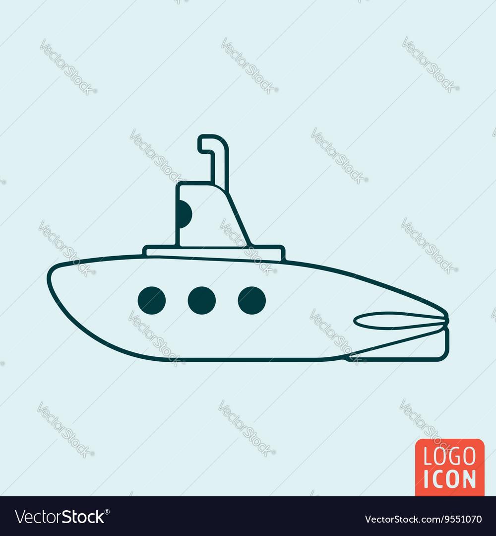 Submarine icon isolated vector image