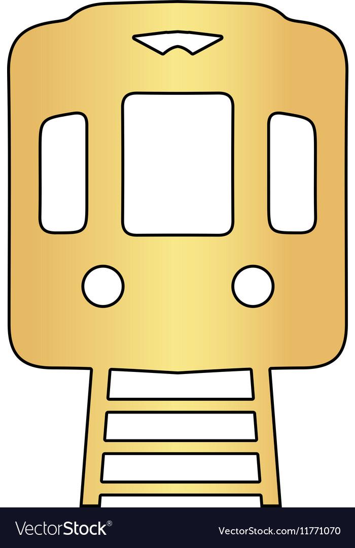 Train computer symbol vector image