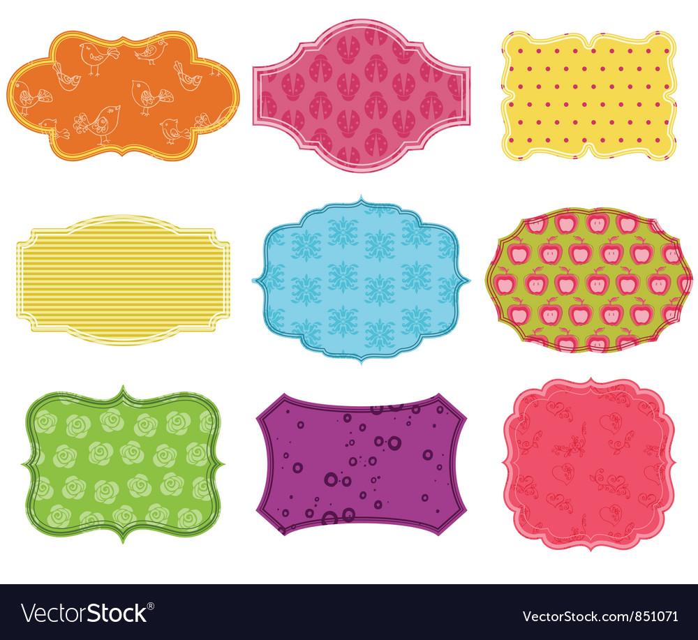 Vintage Colorful Design Elements vector image