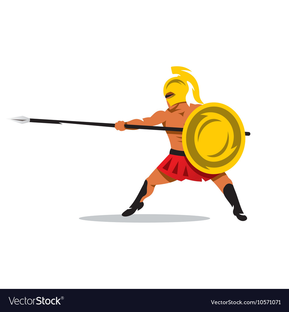Gladiator Warrior Cartoon vector image