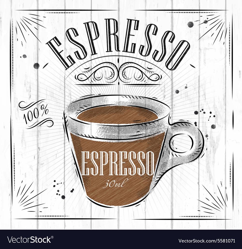 Poster espresso Royalty Free Vector Image - VectorStock