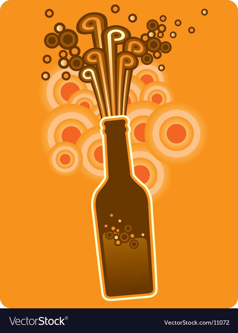 Bottle circles vector image