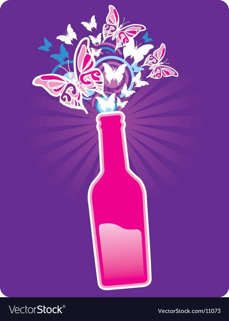 Bottle spring vector image