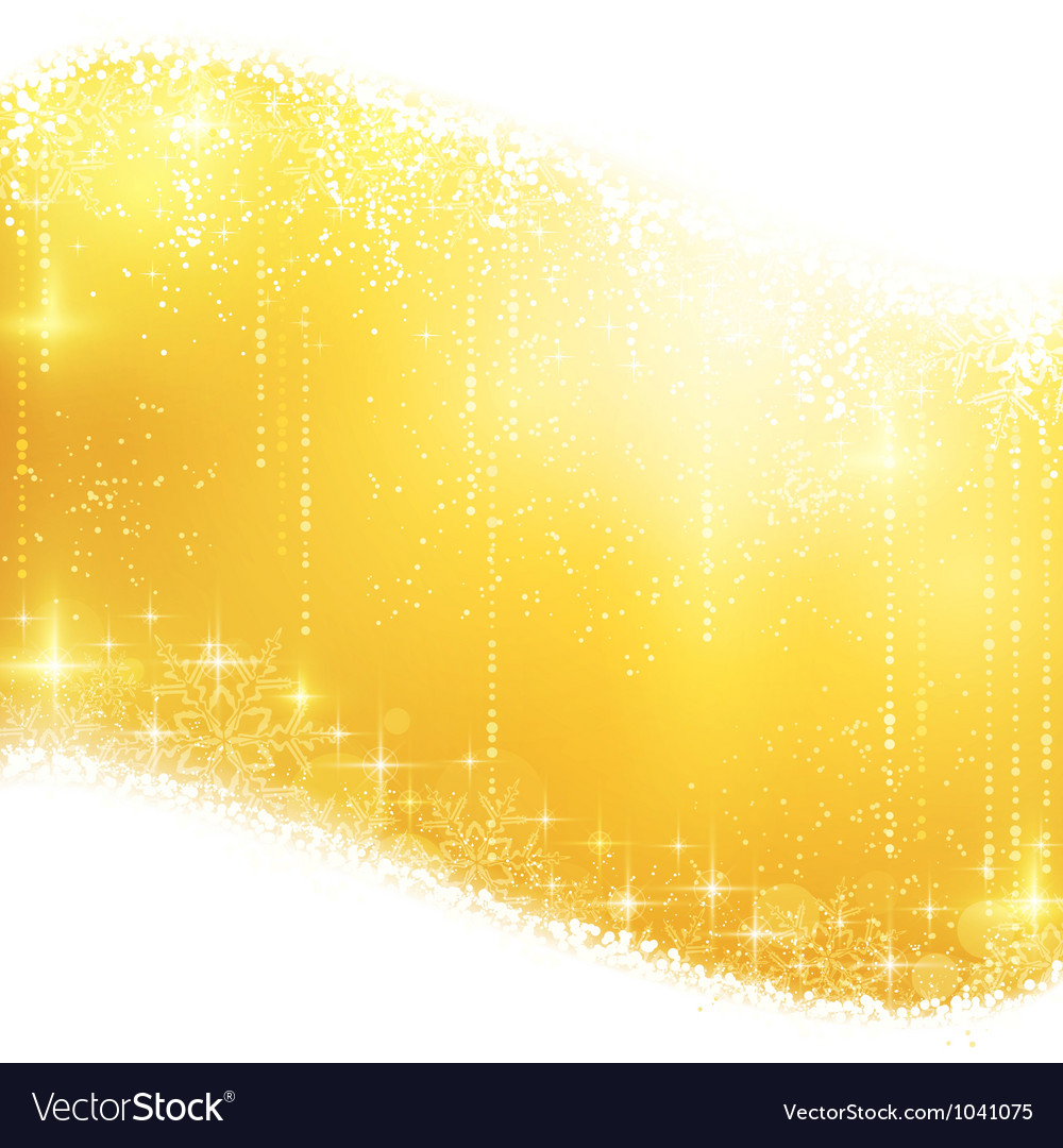 Golden sparkling Christmas background vector image
