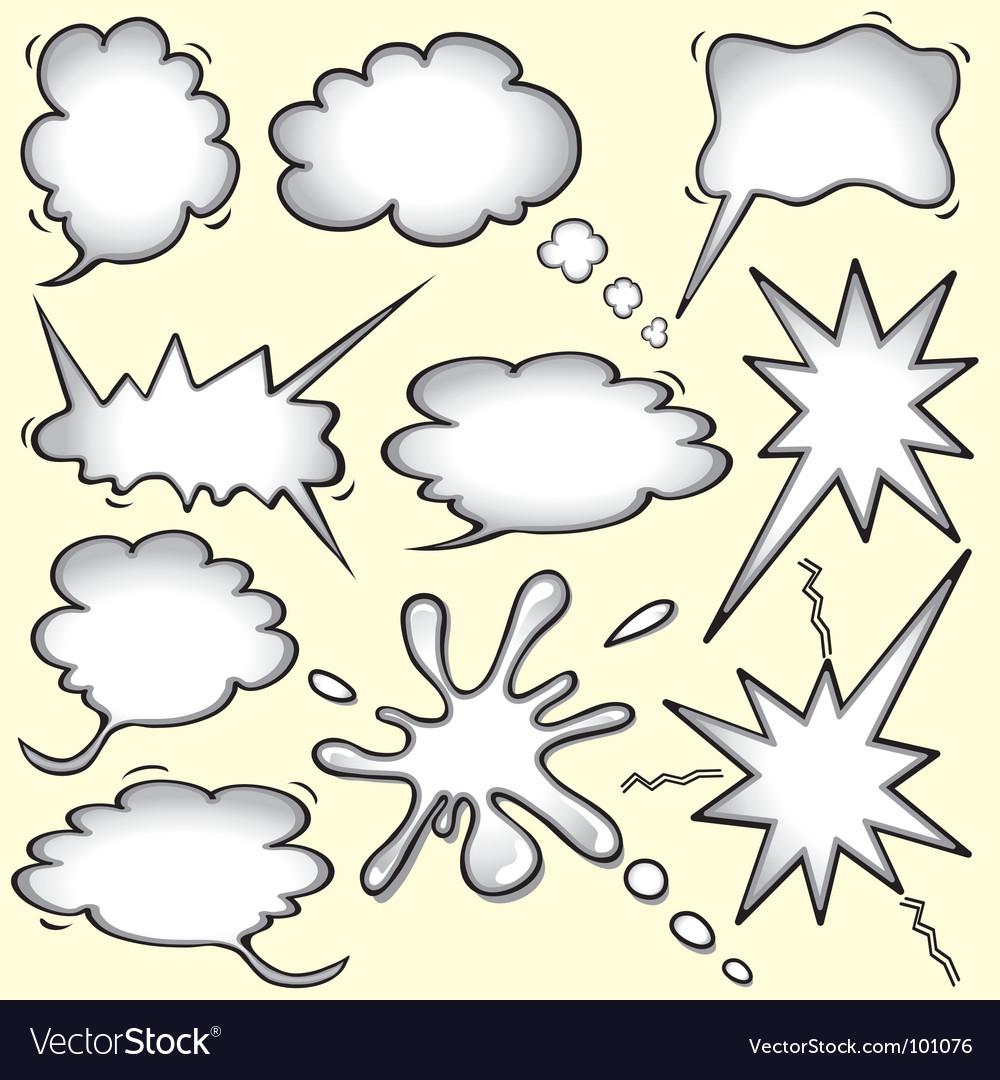 Comic book bomb vector image