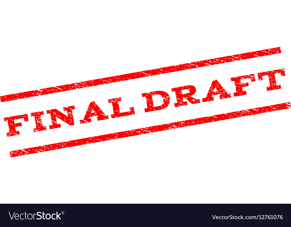Final Draft Watermark Stamp vector image