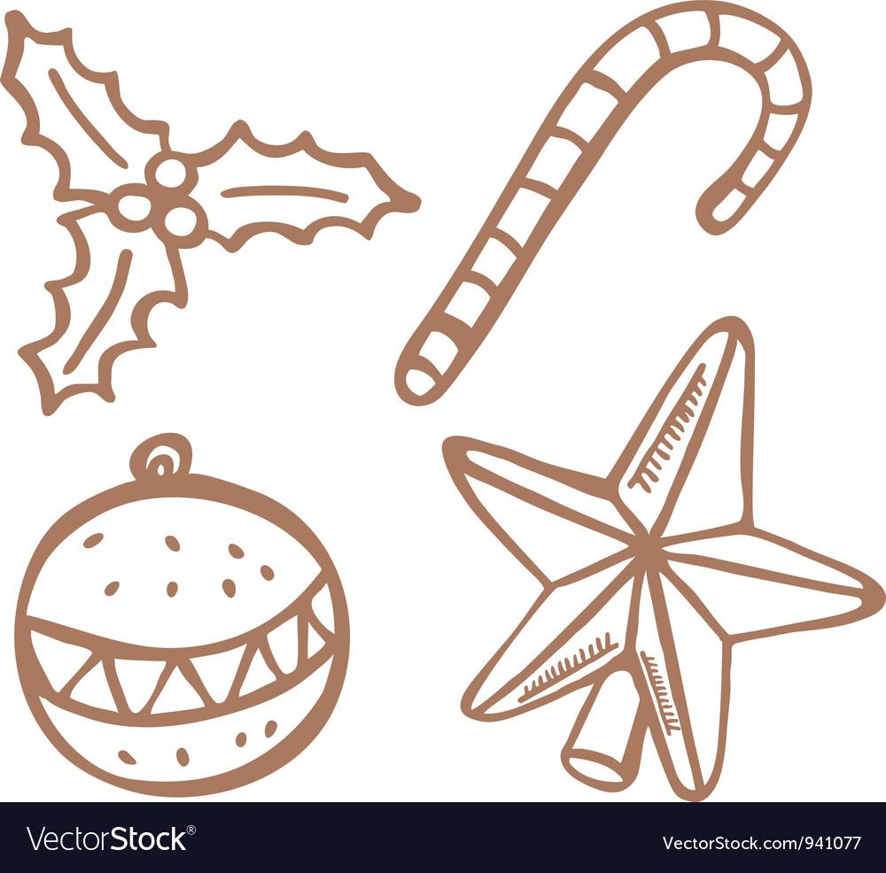 Christmas stuff 2 vector image
