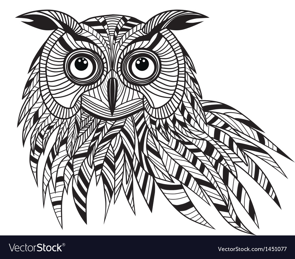 Owl bird head as halloween symbol vector image