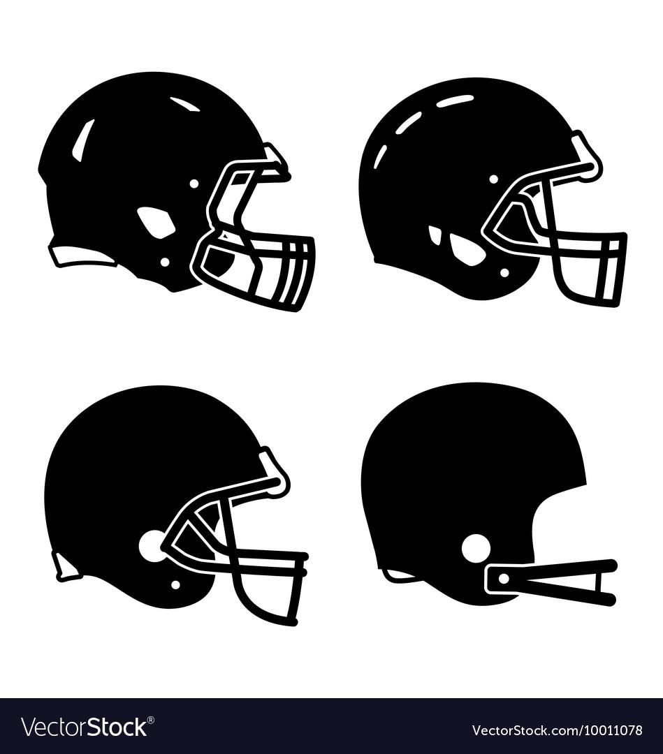 Football helmet sport icon symbols vector image