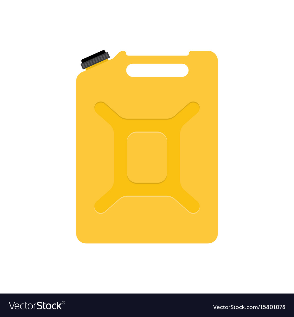Jerrycan isolated on white vector image