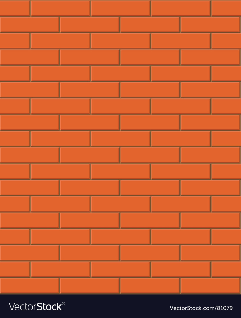 Seamless brick texture vector image